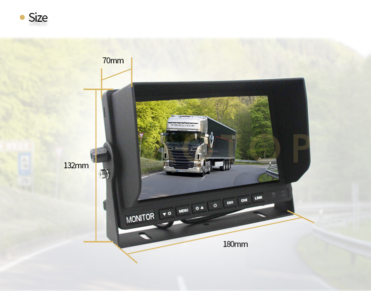 7inch Digital Color Monitor with Mirror Link